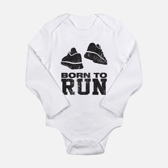 Born To Run Long Sleeve Infant Bodysuit