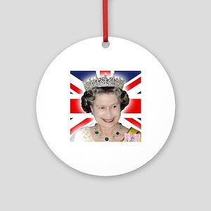 HM Queen Elizabeth II Ornament (Round)