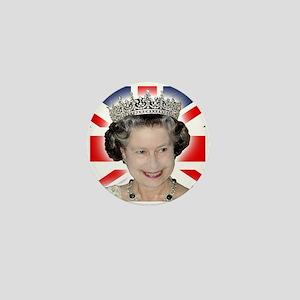 HM Queen Elizabeth II Mini Button