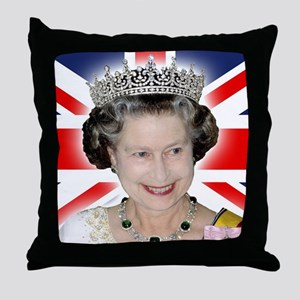 HM Queen Elizabeth II Throw Pillow