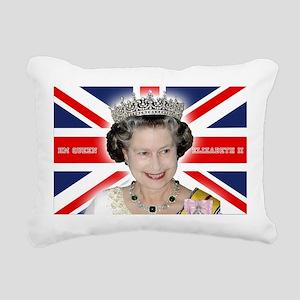 HM Queen Elizabeth II Rectangular Canvas Pillow