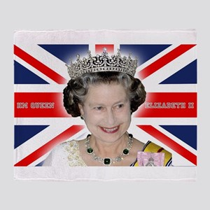 HM Queen Elizabeth II Throw Blanket