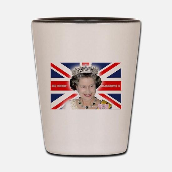 HM Queen Elizabeth II Shot Glass