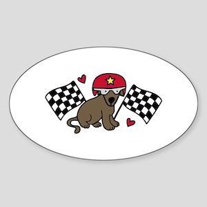 Race Dog Sticker