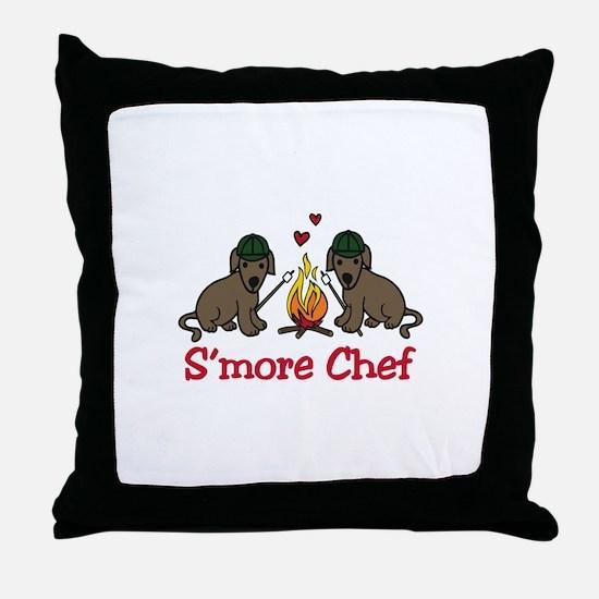 Smore Chef Throw Pillow