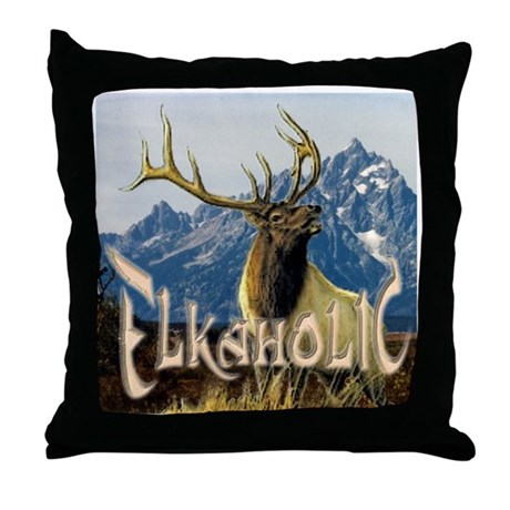 Elkaholic Elk pride logo Throw Pillow