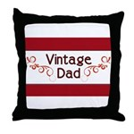 Vintage Dad Throw Pillow