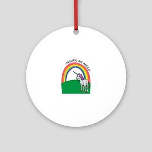 Unicorns are Magical Ornament (Round)