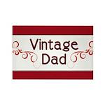 Vintage Dad Rectangle Magnet (100 pack)