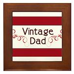 Vintage Dad Framed Tile