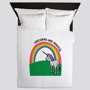 Unicorns are Magical Queen Duvet
