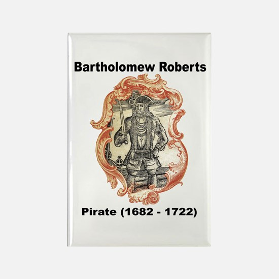 Bartholomew Roberts Pirate Rectangle Magnet