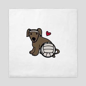 Volleyball Dog Queen Duvet