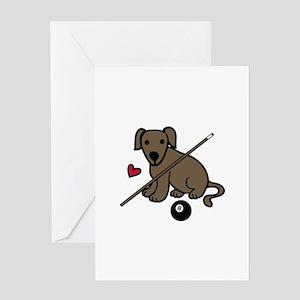 Billiard Dog Greeting Cards