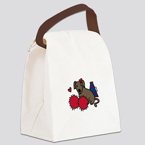 Cheerleader Dog Canvas Lunch Bag