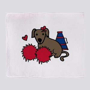 Cheerleader Dog Throw Blanket