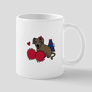 Cheerleader Dog Mugs