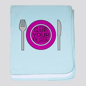 Clean Your Plate baby blanket