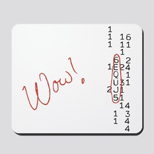Wow Signal SETI Message Mousepad