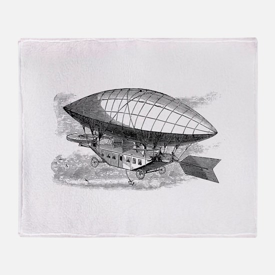 The Airship Throw Blanket