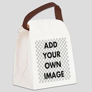 Custom Add Image Canvas Lunch Bag