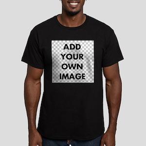 Custom Add Image Men's Fitted T-Shirt (dark)