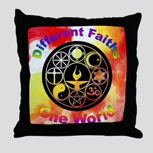 Different_one world Throw Pillow