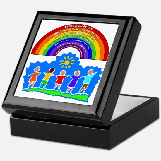 Rainbow Principles Kids Keepsake Box