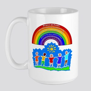 Rainbow Principles Kids Large Mug