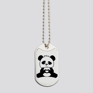 Panda's hands showing love Dog Tags