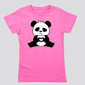 Panda's hands showing love Girl's Tee