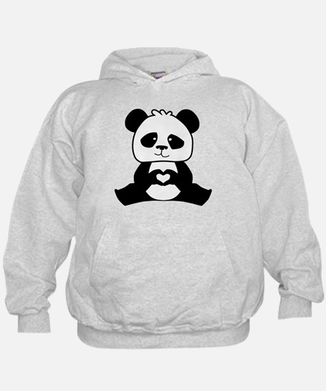 Panda's hands showing love Hoodie