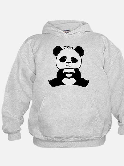 Panda's hands showing love Hoody