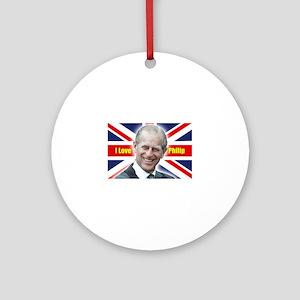 I Love Philip - Prince Philip Ornament (Round)