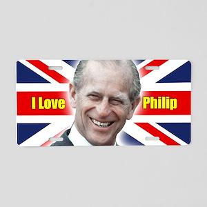I Love Philip - Prince Philip Aluminum License Pla