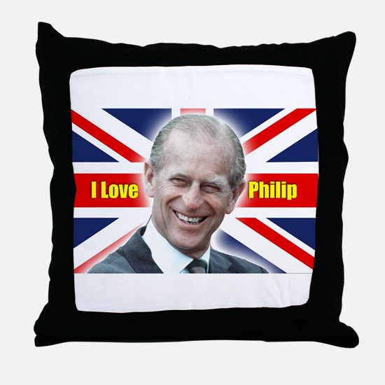 I Love Philip - Prince Philip Throw Pillow