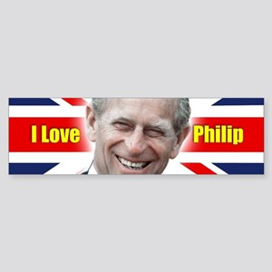 I Love Philip - Prince Philip Bumper Sticker
