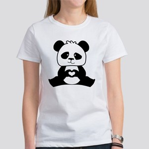 Panda's hands showing love Women's T-Shirt