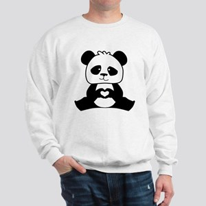 Panda's hands showing love Sweatshirt
