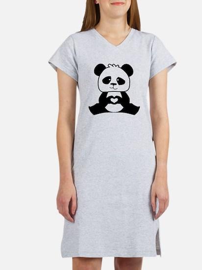 Panda's hands showing love Women's Nightshirt