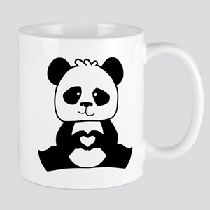 Panda's hands showing love Mug
