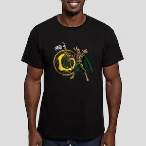 Loki Icon Men's Fitted T-Shirt (dark)