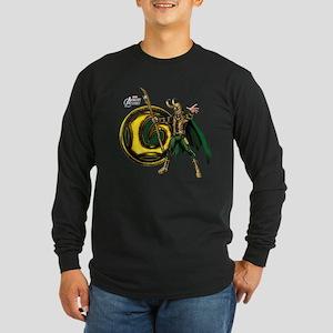 Loki Icon Long Sleeve Dark T-Shirt