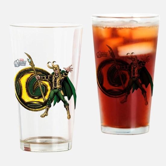 Loki Icon Drinking Glass