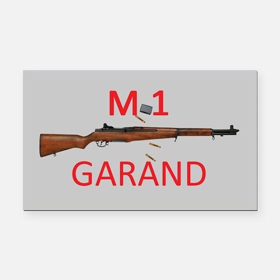 M1 Rectangle Car Magnet