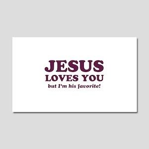 Jesus Loves You But I'm His Favorite Car Magnet 20