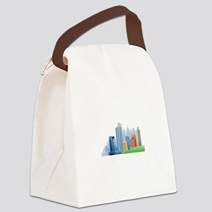 Metropolis Cityscape Skyscrapers City Canvas Lunch