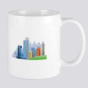 Metropolis Cityscape Skyscrapers City Mugs