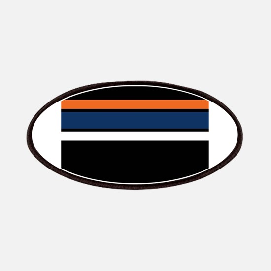 Team Colors 2,,,Orange ,Blue and white Patch