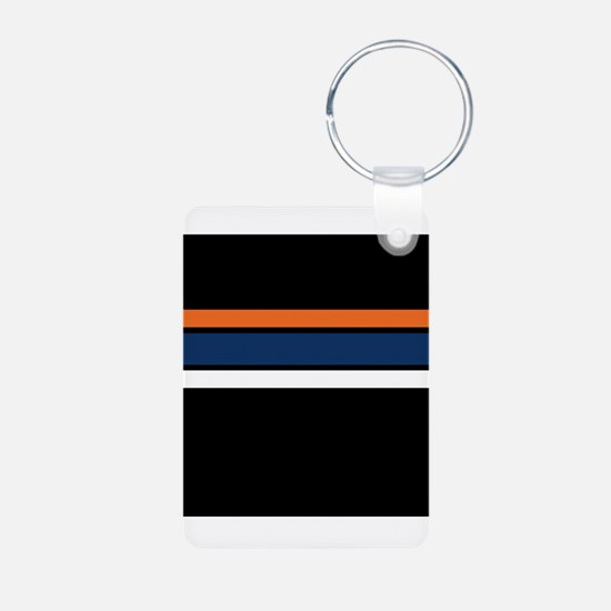 Team Colors 2,,,Orange ,Blue and white Keychains
